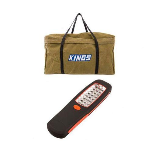 Kings Campfire BBQ Canvas Bag + Kings LED Work Light