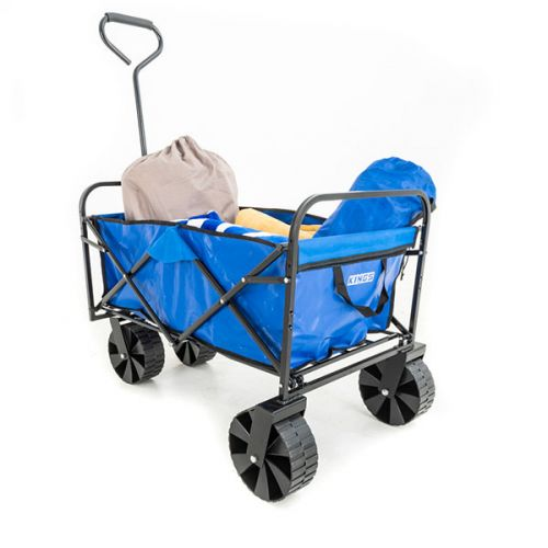 Kings Collapsible Cart | For Beach / Camping / Home / Work Use | Wide Wheels