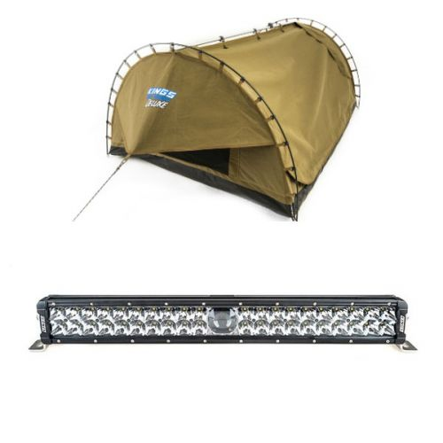 """Adventure Kings Deluxe Double Swag Big Daddy + Adventure Kings 24"""" Laser Light Bar"""