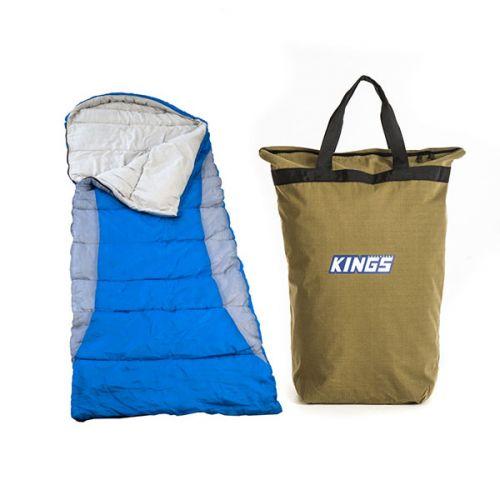 Adventure Kings Right Hooded Sleeping Bag + Doona/Pillow Canvas Bag
