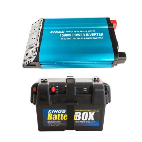 Adventure Kings 1500W Inverter + Battery Box