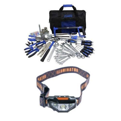 Adventure Kings Tool Kit - Ultimate Bush Mechanic + Illuminator LED Head Torch