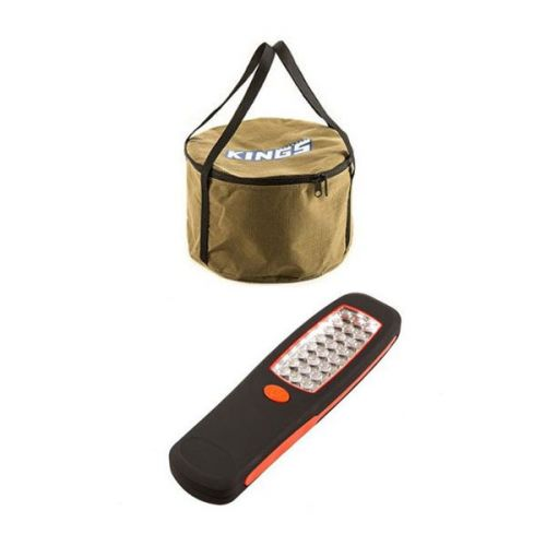 Adventure Kings Camp Oven Canvas Bag + 24 LED Work Light