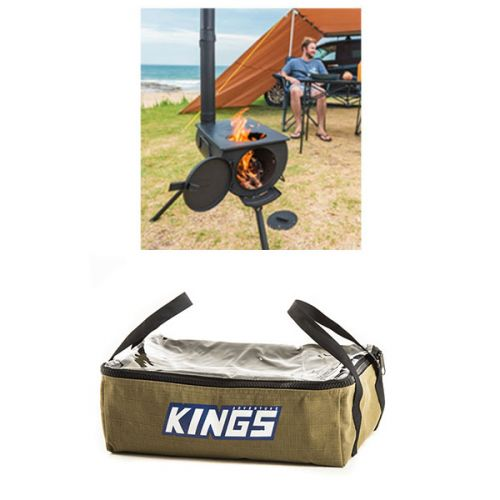 Adventure Kings Camp Oven/Stove + Clear Top Canvas Bag