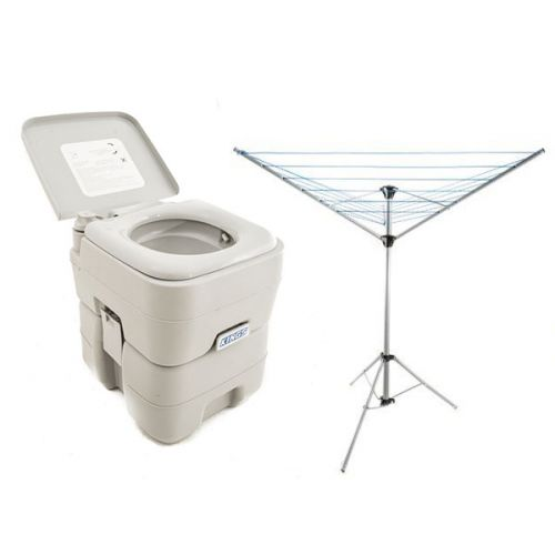 Adventure Kings Portable Camping Toilet + Kings Camping Clothesline