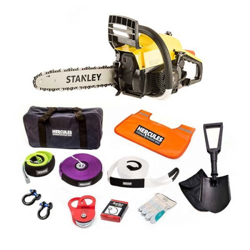 Stanley 37cc Camping Chainsaw + Hercules Complete Recovery Kit - 11-piece