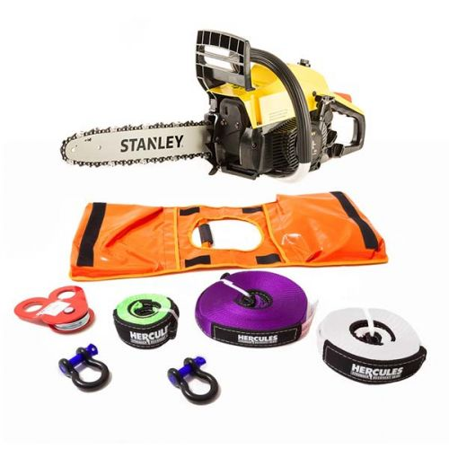 Stanley 37cc Camping Chainsaw + Hercules Essential Nylon Recovery Kit