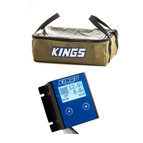 Kings 12V Battery Monitor + Clear Top Canvas Bag