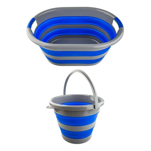 Adventure Kings Collapsible Laundry Basket + Collapsible 10L Bucket
