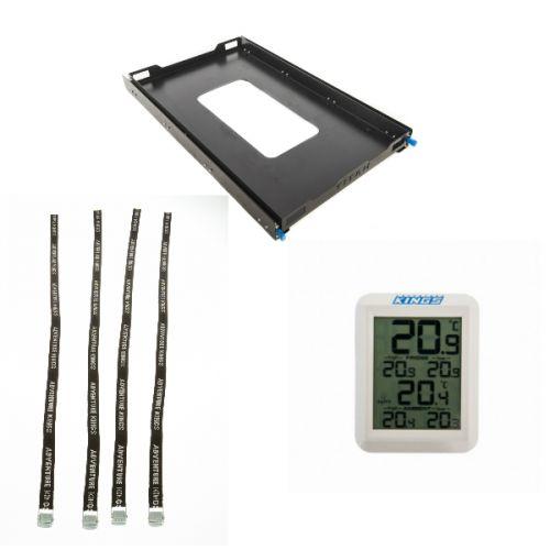 Adventure Kings Titan 100L Fridge Slide + Fridge Tie Down Straps (4 pack) + Wireless Fridge Thermometer