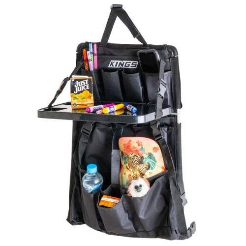 Adventure Kings Premium Car Seat Organiser with Folding Table | 12 Pockets | Universal Fit | 600DD Oxford Fabric