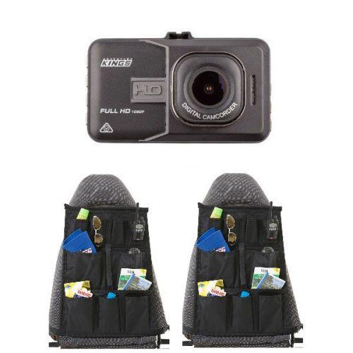 Adventure Kings Dash Camera + 2x Car Seat Organisers
