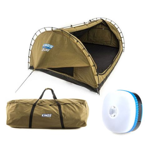 Adventure Kings 'Big Daddy' Deluxe Double Swag + Swag Canvas Bag + Mini Lantern