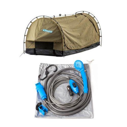 Kings Deluxe Escape Single Swag + Portable Shower Kit