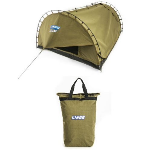 Adventure Kings Deluxe Double Swag Big Daddy + Doona/Pillow Canvas Bag