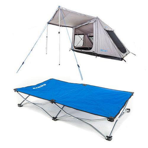 Adventure Kings Swift 5-person Tent + Kings Folding Pet Bed