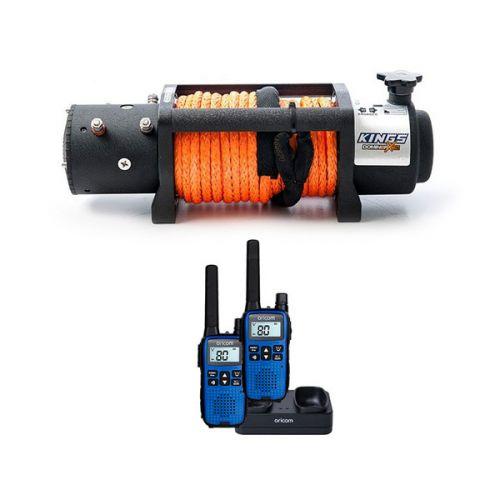 Domin8r X 12,000lb Winch with rope + Oricom Handheld UHF CB Radio Twin Pack - UHF2190