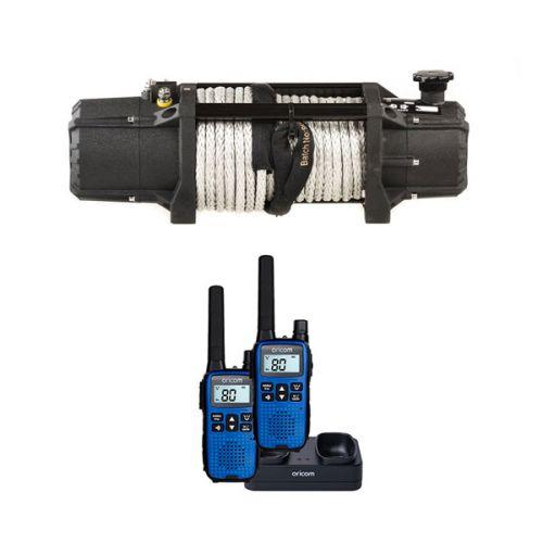 Domin8r Xtreme 12,000lb Winch + Oricom Handheld UHF CB Radio Twin Pack - UHF2190