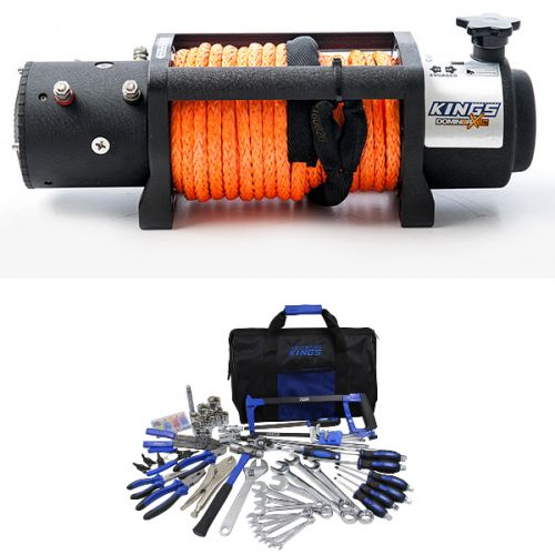 Domin8r X 12,000lb Winch with rope + Adventure Kings Tool Kit - Ultimate Bush Mechanic