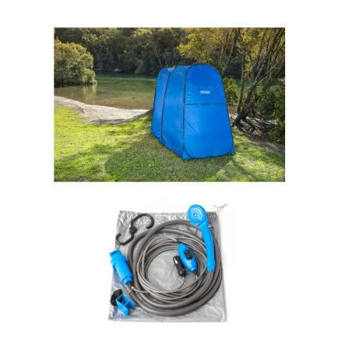 Adventure Kings Double Ensuite/Shower Tent + Portable Shower Kit