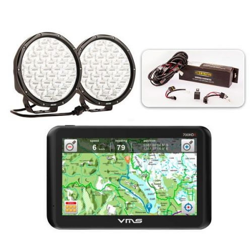 """Essential 9"""" Driving Light Pack + VMS Touring 700 HDX"""