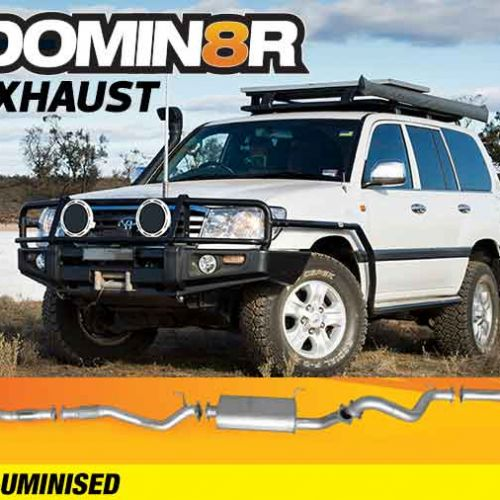 Domin8r Aluminised Exhaust Suitable For Toyota Landcruiser HDJ100R 4.2L 1 HD-FTE 2000-2007 (Turbo Back)