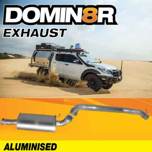 Domin8r Aluminised Exhaust Suitable For Mazda BT50 URII 3.2L All Bodies 08/2016+ (DPF Back)