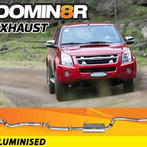 Domin8r Aluminised Exhaust Suitable For Holden Rodeo/Colorado RA-RC & Isuzu D-MAX RC 3.0L 4 DR 2007-7/2010 (SWB 3050mm) (Turbo Back)