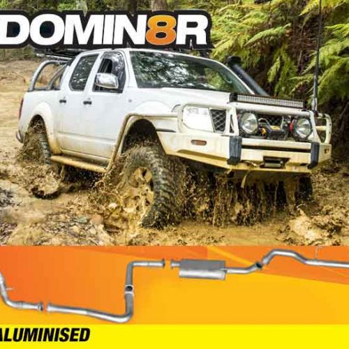 Domin8r Aluminised Exhaust Suitable For Nissan Navara D40 2.5L All Bodies 2007+ (THAILAND BUILD) (MANUAL) (Turbo Back)