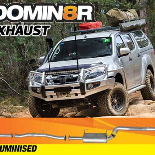 Domin8r Aluminised Exhaust Suitable For Isuzu D-MAX RT 3.0L All Bodies 2012+ (Turbo Back) - Suits 4x4 Models Only