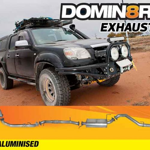 Domin8r Aluminised Exhaust Suitable For Mazda BT50 UN & Ford Ranger PJ-PK 3.0L All Bodies 2006-2010 (MANUAL) (Turbo Back)