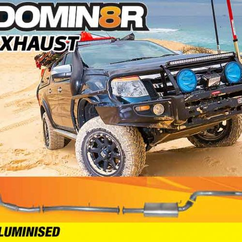 Domin8r Aluminised Exhaust Suitable For Mazda BT50 UP-UR & Ford Ranger PX-PXII 3.2L All Bodies 2011-07/2016 (Turbo Back)
