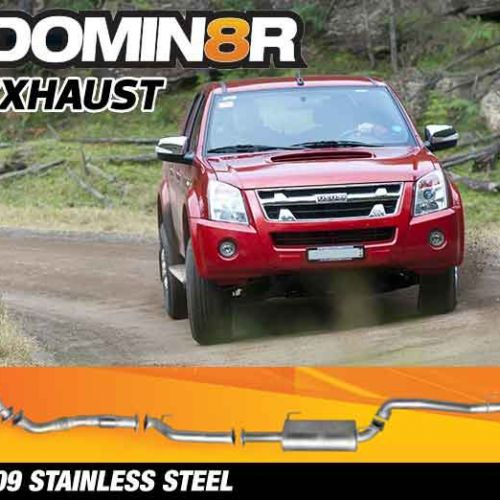 Domin8r Stainless Steel Exhaust Suitable For Holden Rodeo/Colorado RA-RC & Isuzu D-MAX RC 3.0L 4 DR 2007-7/2010 (SWB 3050mm) (Turbo Back)