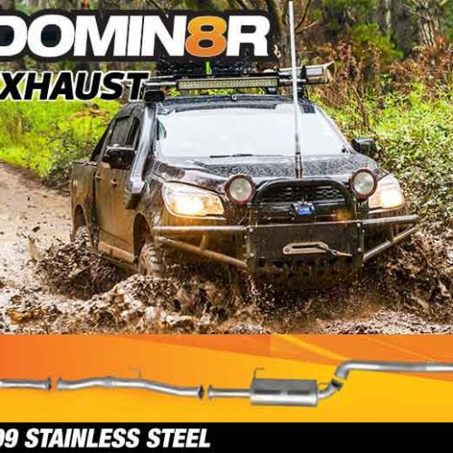 Domin8r Stainless Steel Exhaust Suitable For Holden Colorado RG 2.8 L All Bodies 2012-06/2016 (Turbo Back) - Suits 4x4 Models Only