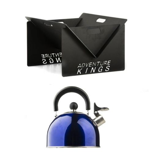 Kings Portable Steel Fire Pit + Camping Kettle