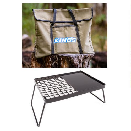 Adventure Kings Essential BBQ Plate + Kings Portable Fire Pit Bag
