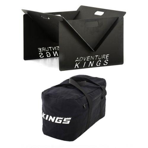 Kings Portable Steel Fire Pit + 40L Duffle Bag