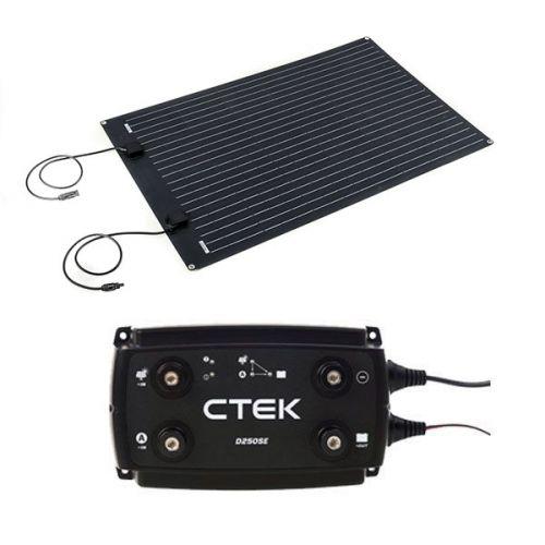 Adventure Kings 110W Semi-Flexible Solar Panel + CTEK D250SE DC/DC 20A Dual Battery System