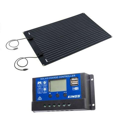 Adventure Kings 110W Semi-Flexible Solar Panel + 15A PWM Solar Controller