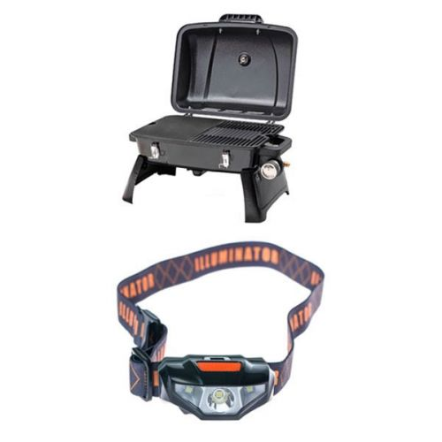 Gasmate Voyager Portable BBQ + Illuminator LED Head Torch