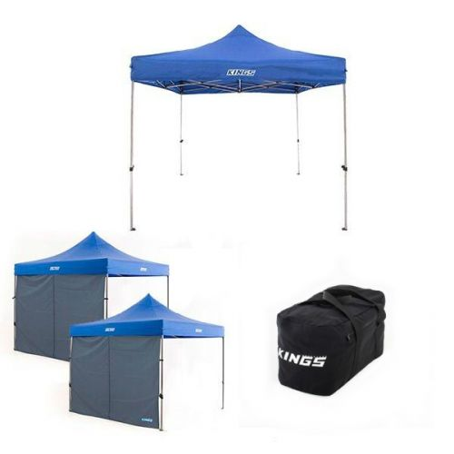 Adventure Kings - Gazebo 3m x 3m + 2x Adventure Kings Gazebo Side Wall + 40L Duffle Bag