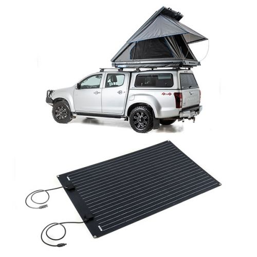 Grand Tourer MKII Aluminium Rooftop Tent + Adventure Kings 110W Semi-Flexible Solar Panel