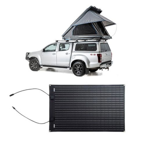 Grand Tourer MKII Aluminium Rooftop Tent + Adventure Kings 110W Semi-Flexible Solar Panel