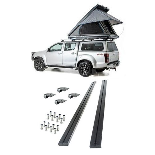 Grand Tourer MKII Aluminium Rooftop Tent + Grand Tourer RTT - Pair of Alloy Cross Bars