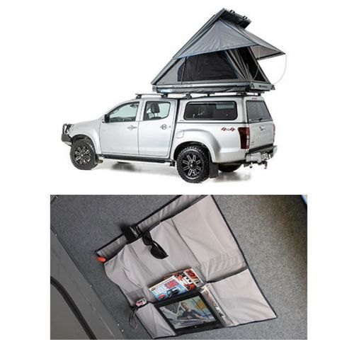 Grand Tourer MKII Aluminium Rooftop Tent + Grand Tourer Alloy Rooftop Tent Internal Storage Pocket