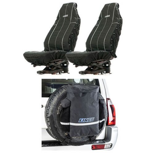 Kings Premium 48L Dirty Gear Bag + Heavy Duty Seat Covers (Pair)