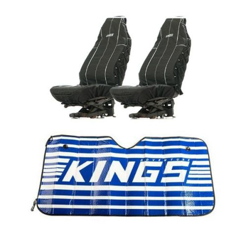 Adventure Kings Heavy Duty Seat Covers (Pair) + Sunshade