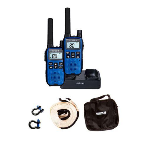 Hercules Snatch Strap Kit + Oricom Handheld UHF CB Radio Twin Pack - UHF2190