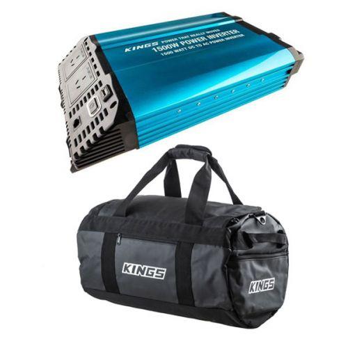 Adventure Kings 1500W Inverter + 40L Large PVC Duffle Bag