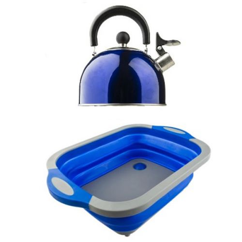 Adventure Kings Collapsible Sink + Camping Kettle
